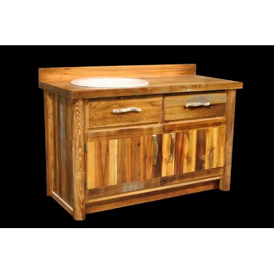 "Bathroom Vanities Utah utah mountain barnwood 48"" bathroom vanity base & reviews 