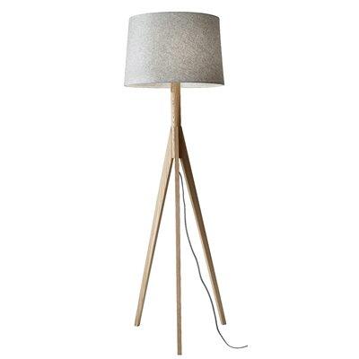 adesso floor lamp with shelves tripod uk espresso walnut
