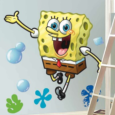 Wallhogs SpongeBob Squarepants Cutout Wall Decal Reviews Wayfair - Spongebob wall decals