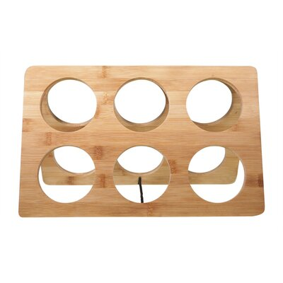 Worthy Bamboo 6 Bottle Tabletop Wine Bottle Rack U0026 Reviews | Wayfair