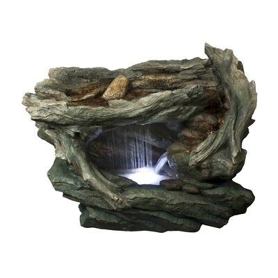 Northlight Fiberglass/Resin Woodland Grotto with Stones Spring Outdoor  Water Fountain with LED Light   Wayfair - Northlight Fiberglass/Resin Woodland Grotto With Stones Spring