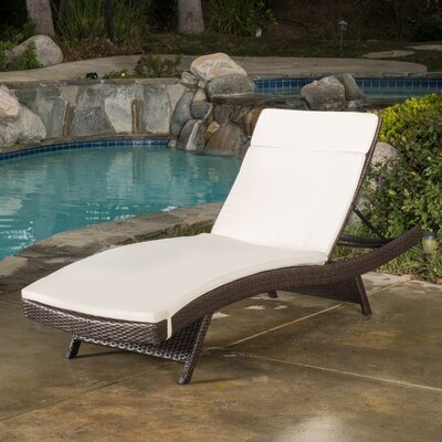darby home co peyton adjustable wicker chaise lounge with cushion u0026 reviews wayfair