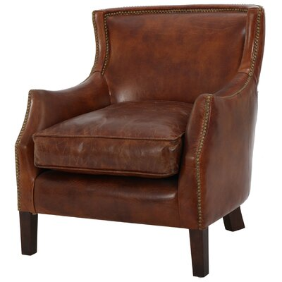 darby home co adelbert kraig top grain leather armchair u0026 reviews wayfair