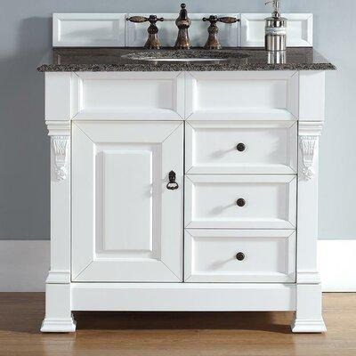 """White 36 Bathroom Vanity darby home co bedrock 36"""" single cottage white bathroom vanity set"""