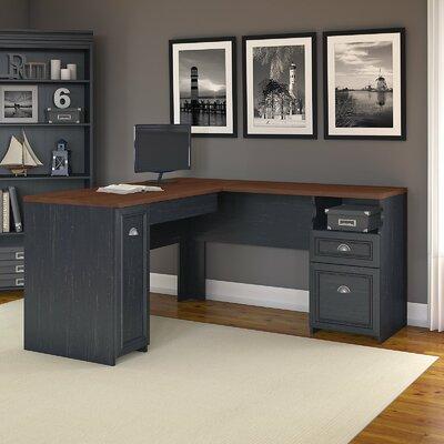 Beachcrest Home Oakridge L-Shaped Computer Desk with Bookcase ...