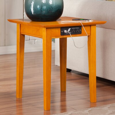 Charlton Home Ithaca End Table With Charging Station U0026 Reviews | Wayfair