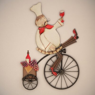 Bicycle Wall Decor charlton home chef on a bike wall decor & reviews | wayfair