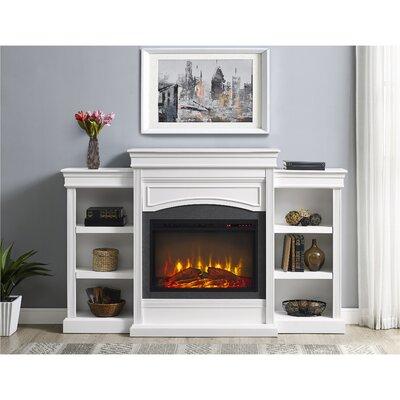 Charlton Home Allsop Mantel Wall Mount Electric Fireplace - Mantel electric fireplace
