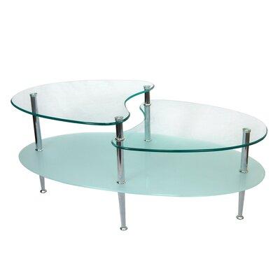 varick gallery cate glass oval coffee table & reviews   wayfair