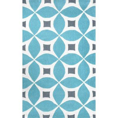 Good Brayden Studio Crispin Hand Tufted Baby Blue/White Area Rug U0026 Reviews |  Wayfair