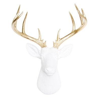 Deer Wall Decor brayden studio large deer head faux taxidermy wall décor & reviews