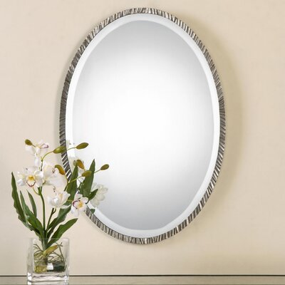 Oval Wall Mirror brayden studio oval polished nickel wall mirror & reviews | wayfair