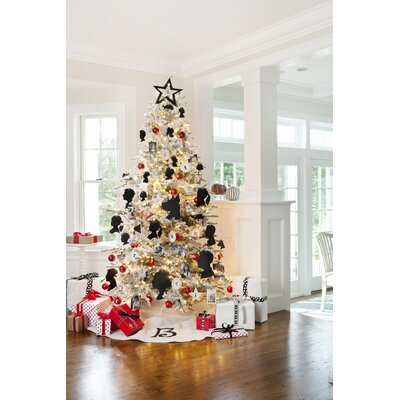 75 white artificial christmas tree with 750 clear lights with stand reviews birch lane - 75 White Christmas Tree