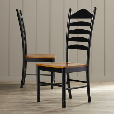 International Concepts Madison Park Ladderback Solid Wood Dining Chair U0026  Reviews | Wayfair