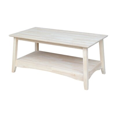 International Concepts Unfinished Wood Bombay Tall Coffee Table Reviews Wayfair