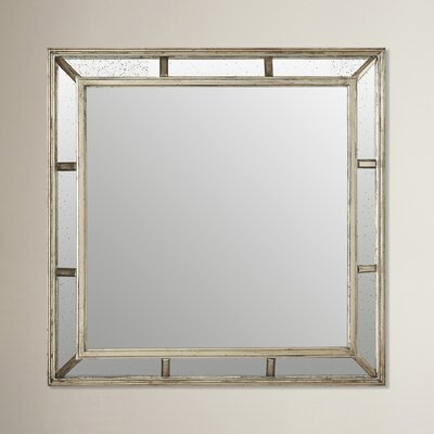 allen roth 30 in x 36 silver leaf beveled rectangle framed contemporary golden capiz s 32 1 4 high framed wall mirror polyvore
