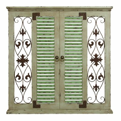 Wood And Iron Wall Decor one allium way window rustic wood and metal wall decor & reviews