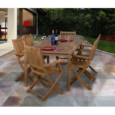 7 Piece Austin Patio Dining Set   Reviews   Joss   Main. Outdoor Dining Sets Austin. Home Design Ideas