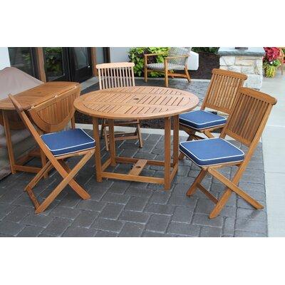 Beachcrest Home Wiscon Round Fold And Store 5 Piece Dining Set U0026 Reviews |  Wayfair