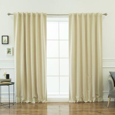 beachcrest home sweetwater room darkening thermal blackout curtain panels u0026 reviews wayfair