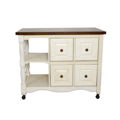 Loon Peak Lockwood 4 Drawer 2 Shelf Kitchen Cart U0026 Reviews | Wayfair