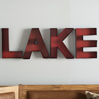 Letters For Wall Decor loon peak new cordell lake letters wall décor & reviews | wayfair