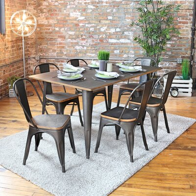 Trent austin design claremont 7 piece dining set reviews wayfair - Dining room sets austin tx ...