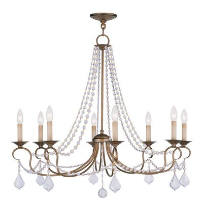 house of hampton uttoxeter 8 light candle style chandelier hohn4310