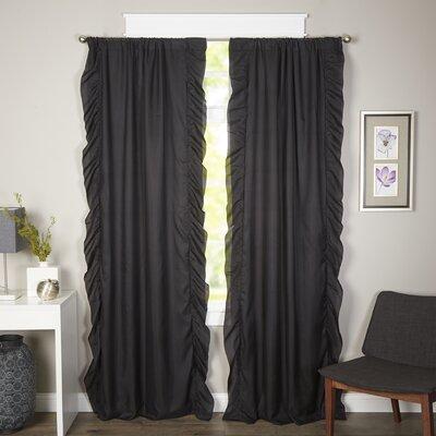 Curtains Ideas Black Ruffle Curtains : Victoria Ruffle Blackout Curtain  Panel Pair U0026 Reviews | Joss