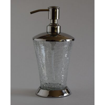 Fashion Home Classic Hand Crafted Crackle Glass Soap Dispenser ...