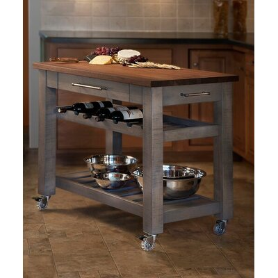 Martins Homewares Metro Mobile Kitchen Island with Solid Walnut Top &  Reviews | Wayfair