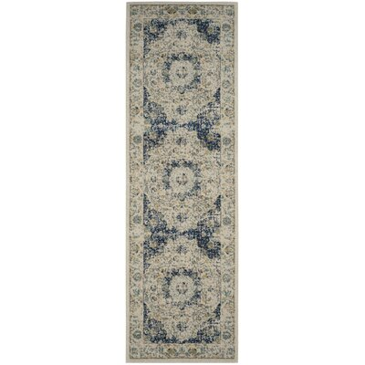 Bungalow Rose Ameesha Ivory/Blue Area Rug