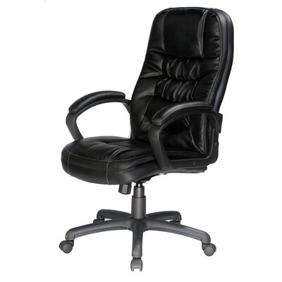 comfort products mid-back leather desk chair & reviews | wayfair