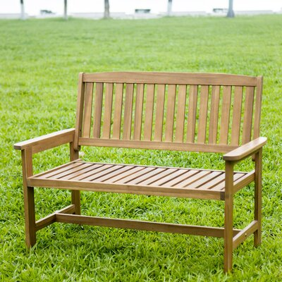 HRH Designs Wood Garden Bench Reviews Wayfair