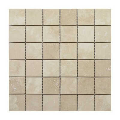 Seven Seas Emperador Light Square 2 x 2 Marble Mosaic Tile in