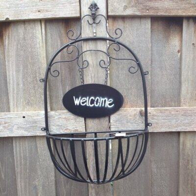 Metal Wall Planter artscapes welcome basket metal wall planter & reviews | wayfair