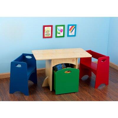 KidKraft Kids 4 Piece Rectangular Table And Chair Set U0026 Reviews   Wayfair