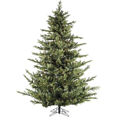 fraser hill farm foxtail pine 9u0027 green artificial christmas tree with led clear string lighting with stand u0026 reviews wayfair