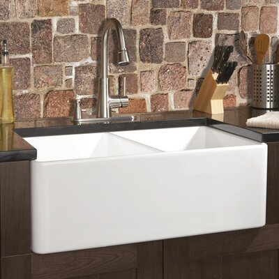 Fine Fixtures Fireclay 32 X 20 Butler Reverse Apron Double Kitchen Sink Reviews Wayfair