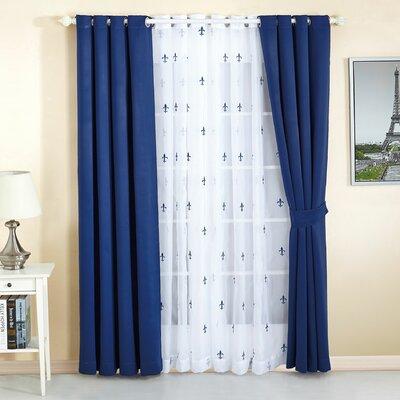 Serenta Fleur De Lis Geometric Semi Sheer Thermal Curtain Panels U0026 Reviews    Wayfair