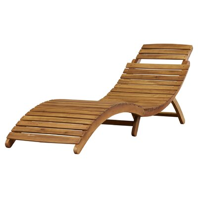 Bay Isle Home Wood Outdoor Chaise Lounge U Reviews With Patio Chaise Lounge.