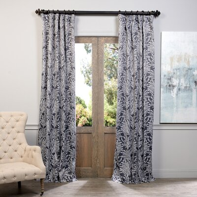 Curtains Ideas blackout pinch pleat curtains : Lauren Floral Print Blackout Pinch Pleat Single Curtain Panel ...