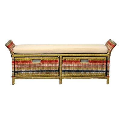 - Bay Isle Home Saragosa Wicker Storage Bench & Reviews Wayfair