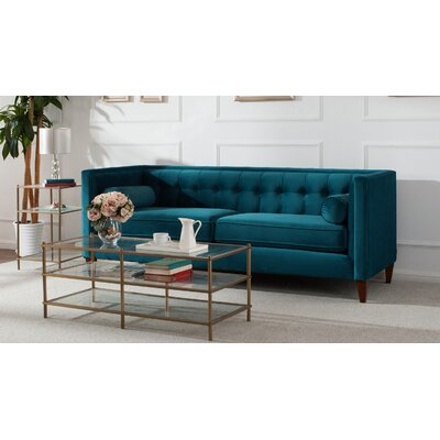 Willa Arlo Interiors Harcourt Tufted Chesterfield Sofa In Teal U0026 Reviews |  Wayfair