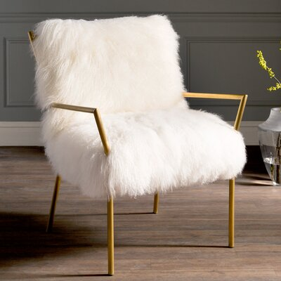 Willa Arlo Interiors Ottavio Modern Sheepskin Armchair U0026 Reviews | Wayfair
