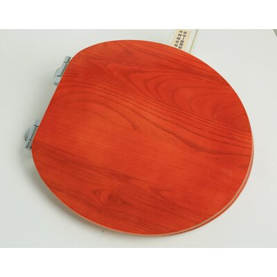 PlumbingTechnologiesLLC Contemporary Full Cover Solid Oak Wood Round Toilet  Seat   Reviews   WayfairPlumbingTechnologiesLLC Contemporary Full Cover Solid Oak Wood  . Round Toilet Seat Covers. Home Design Ideas