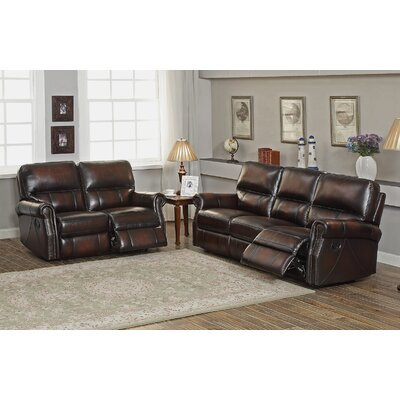 Amax Nevada Leather Recliner Sofa And Loveseat Set | Wayfair