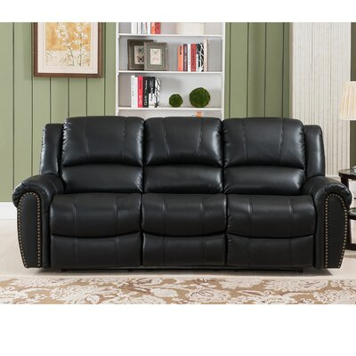 Amax Houston 3 Piece Leather Recliner Living Room Set | Wayfair