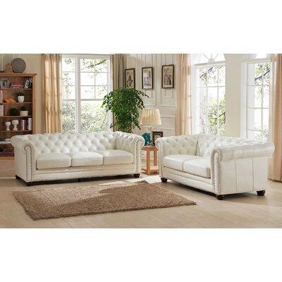 Amax Nashville 2 Piece Leather Living Room Set U0026 Reviews | Wayfair Part 93