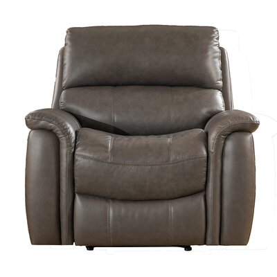 Red Barrel Studio Forbes Leather Manual Wall Hugger Recliner u0026 Reviews | Wayfair  sc 1 st  Wayfair & Red Barrel Studio Forbes Leather Manual Wall Hugger Recliner ... islam-shia.org